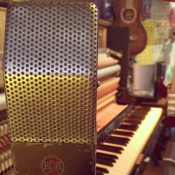 Our vintage RCA 74b ribbon microphone